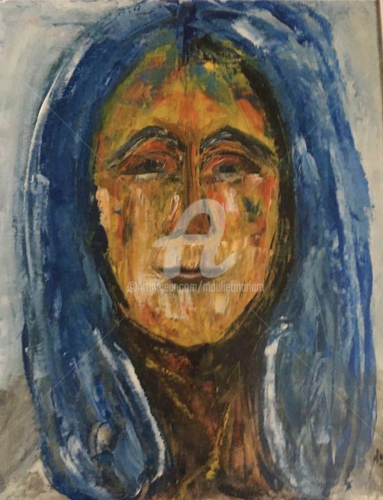 Mariam Mouliets - Jeune fille au cheveux bleu