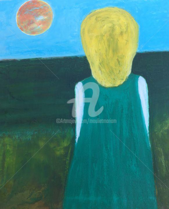 Mariam Mouliets - La fille en vert regarde l'Océan